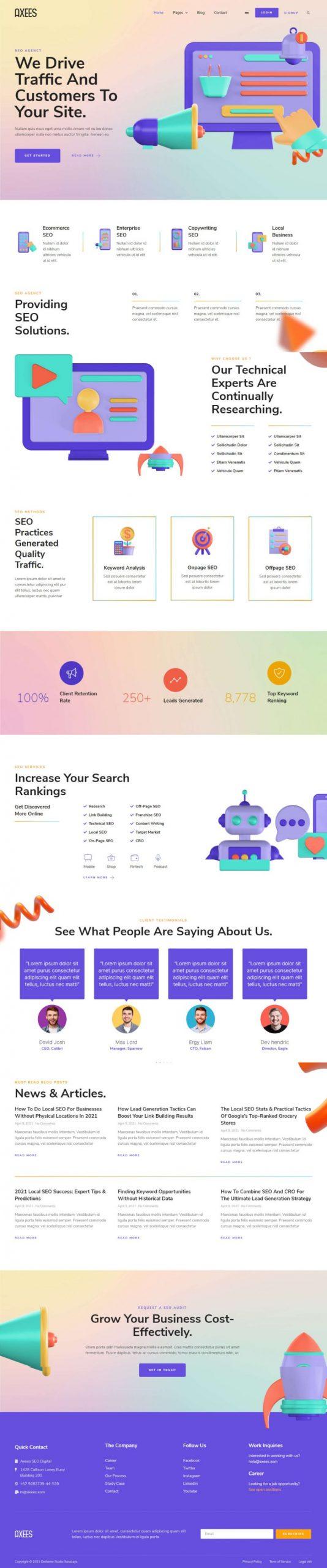 Agency Website Design – Axees
