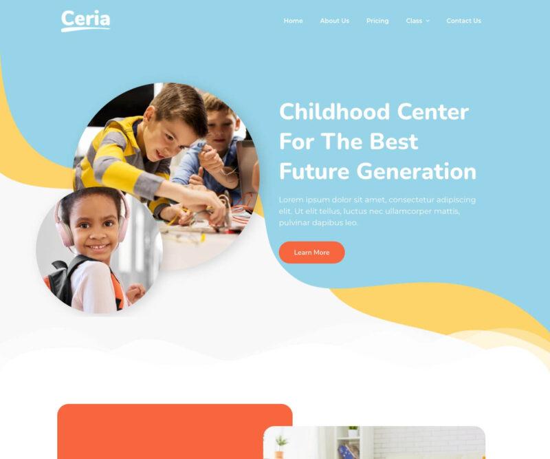Pre-School Website Design – Ceria